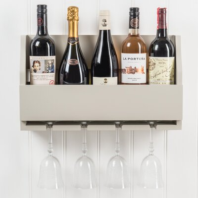 Christopherso 5 Bottle Wall Mounted Wine Rack Color: French Gray