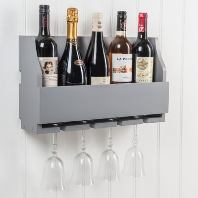 Christopherso 5 Bottle Wall Mounted Wine Rack Color: Dove Gray