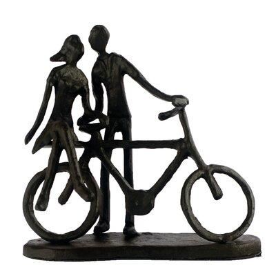 Elur Couple with Bicycle Figurine