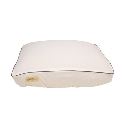 """Standard Piping Fitted Linen Bed Cover Size: Extra Large (7"""" H x 34"""" W x 42"""" L)"""