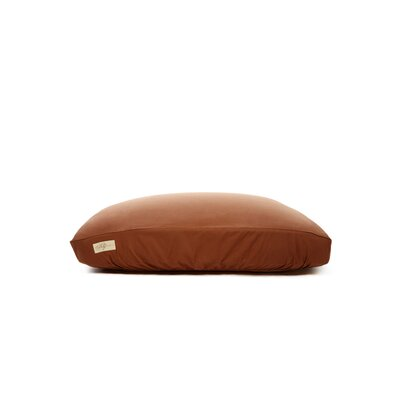 "Standard Dog Bed Cover Size: Small (18"" L x 24"" W), Color: Chocolate Brown"