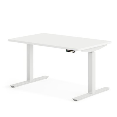 """OfficeFlex Sit-To-Stand Standing desk Size: 50.5"""" H x 48"""" W x 30"""" D, Finish: Pure White"""