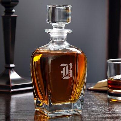 Draper Personalized 24 oz. Whiskey Decanter Monogram: E