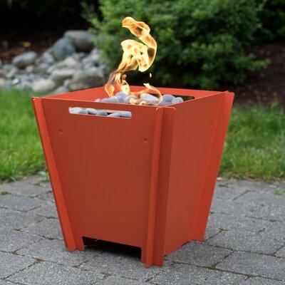 Steel Bioethanol Fire Pit Size: Small, Finish: Tangerine Orange