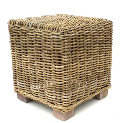 Old Basket Supply Ltd Rattan Cube Ottoman
