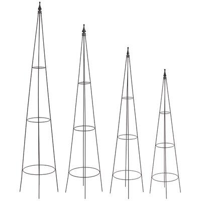 Old Basket Supply Ltd 4 Piece Metal Obelisks Set
