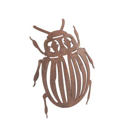 Old Basket Supply Ltd Rusty Beetle Garden Sign