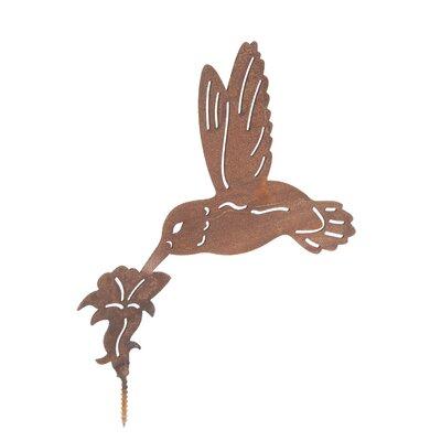 Old Basket Supply Ltd Rusty Humming Bird Garden Sign