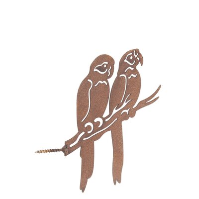 Old Basket Supply Ltd Rusty Parrots Garden Stake