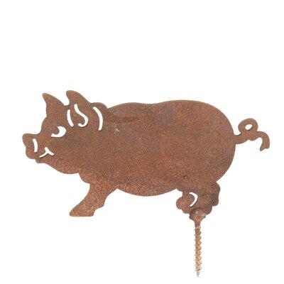Old Basket Supply Ltd Rusty Pig Garden Stake