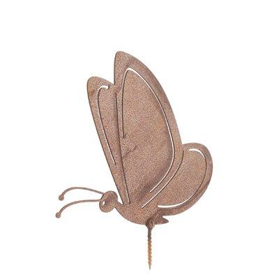 Old Basket Supply Ltd Rusty Butterfly in Flight Garden Stake