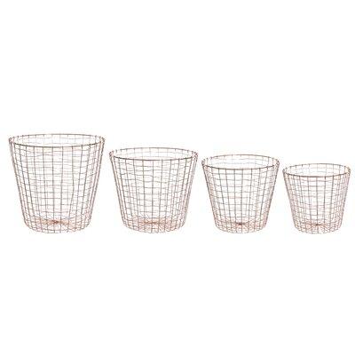 Old Basket Supply Ltd New Season 4 Piece Round Basket Bin Set