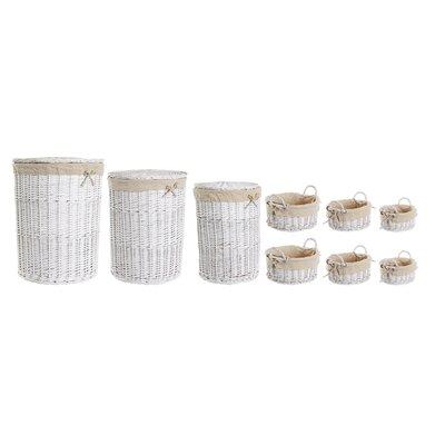 Old Basket Supply Ltd 9 Piece Lined Storage Basket Set