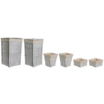 Old Basket Supply Ltd Lined Storage 6 Piece Square Linen Basket Set