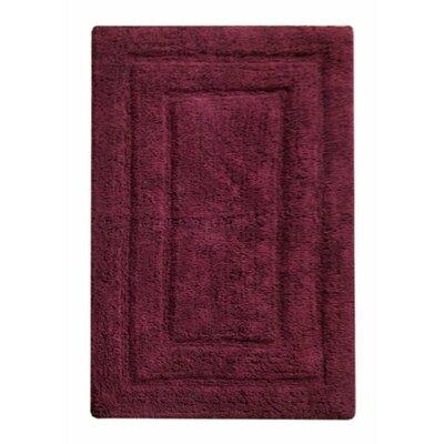 Classic Bath Rug Color: Burgundy