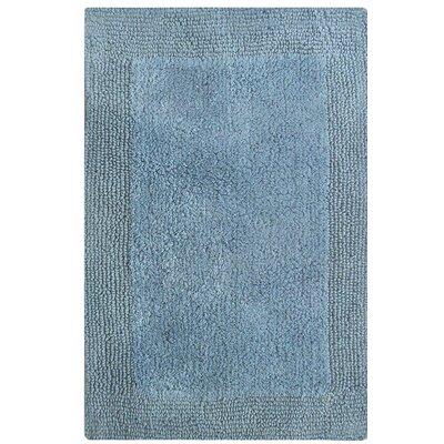 """Splendor Reversible Bath Rug Size: 1"""" H x 21"""" W x 34"""" L, Color: Blue"""