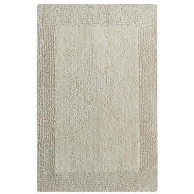 """Splendor Reversible Bath Rug Size: 1"""" H x 21"""" W x 34"""" L, Color: Ivory"""