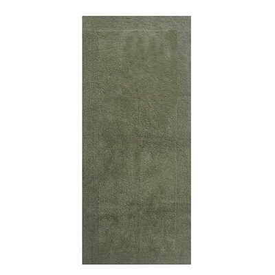 "Splendor Reversible Bath Rug Size: 1"" H x 21"" W x 34"" L, Color: Green"