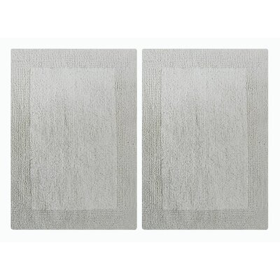 Splendor Reversible Step Out Bath Rug Color: White