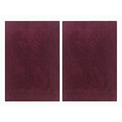Splendor Reversible Step Out Bath Rug Color: Burgundy