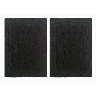 Splendor Reversible Step Out Bath Rug Color: Black