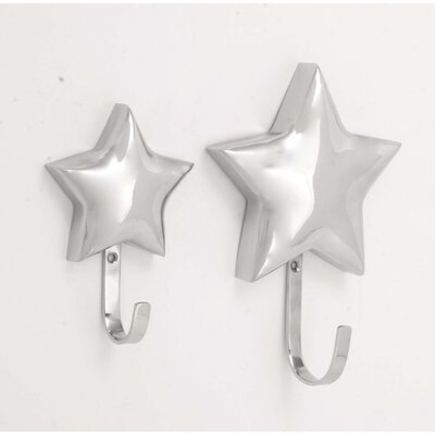 Prospect 2 Piece Gleaming Star Wall Hook Set