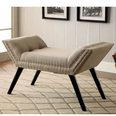 Palladio Upholstered Bench Upholstery: Ivory