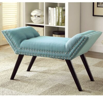 Palladio Upholstered Bench Upholstery: Blue