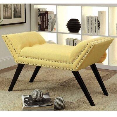 Palladio Upholstered Bench Upholstery: Yellow