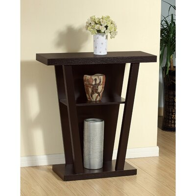 Biag Contemporary Style V-Shape Console Table Color: Dark Brown
