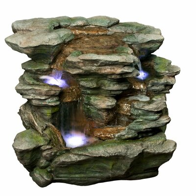 Polyresin Rock Waterfall with Light