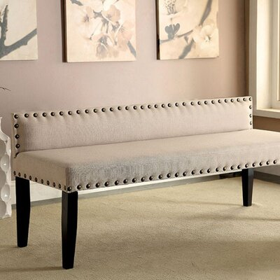 Fabio Contemporary Wood Bench