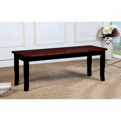 Adalbert Dining Bench Color: Cherry/Black