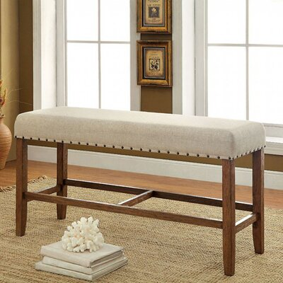 Adalard Counter Height Wood Dining Bench
