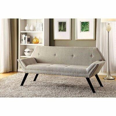 Hester Street Upholstered Bench Upholstery: Beige