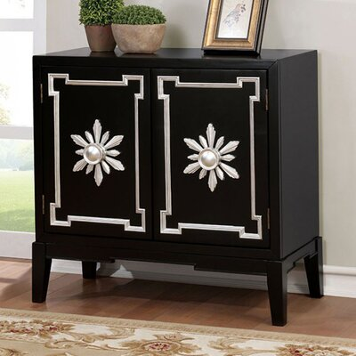 Zoie Vintage Hallway 2 Doors Accent Cabinet Color: Black