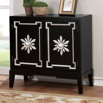 Zoie Vintage Hallway 2 Doors Accent Cabinet Color: Black