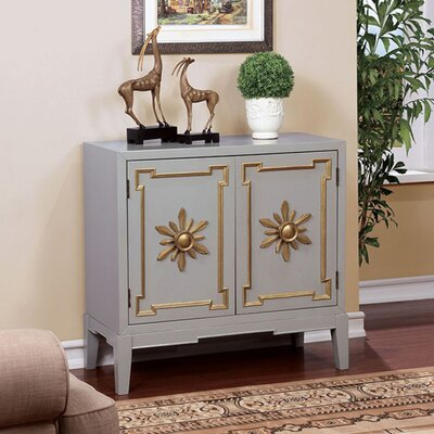 Zoie Vintage Hallway 2 Doors Accent Cabinet Color: Gray