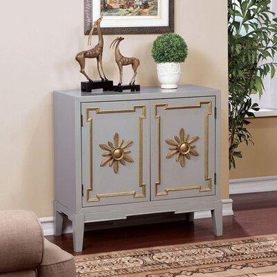 Zoie Vintage Hallway 2 Doors Accent Cabinet Color: Gray