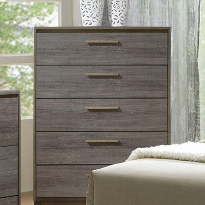 Antigone Contemporary 5 Drawers Accent Chest