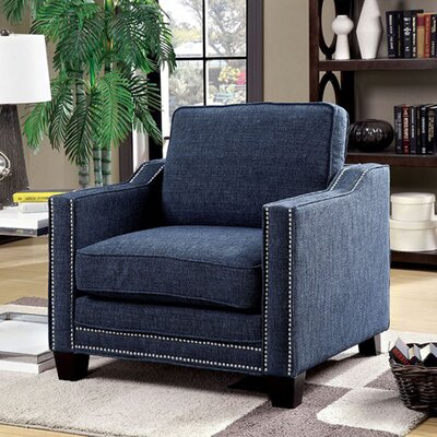 Rogalski Contemporary Armchair Upholstery: Blue