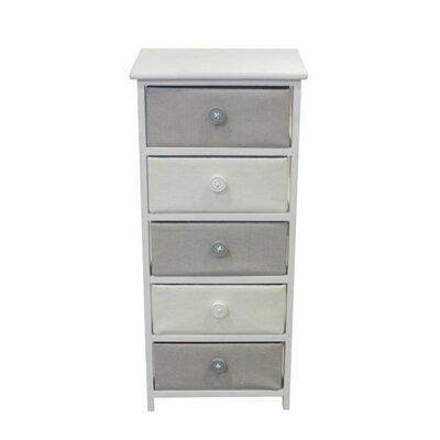 Brinckerhoff Voluminous 5 Drawers Accent Chest