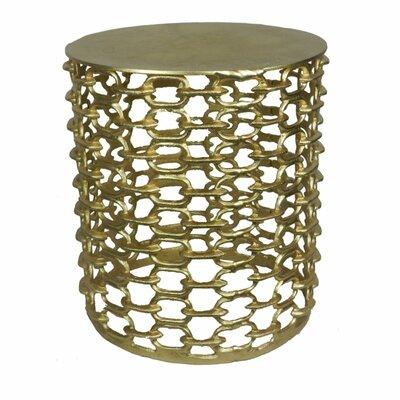 Artoria Durable Metal Garden Stool Color: Gold