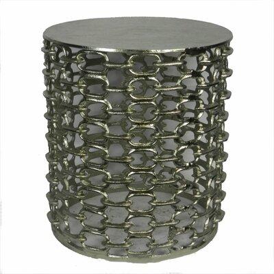 Artoria Durable Metal Garden Stool Color: Silver