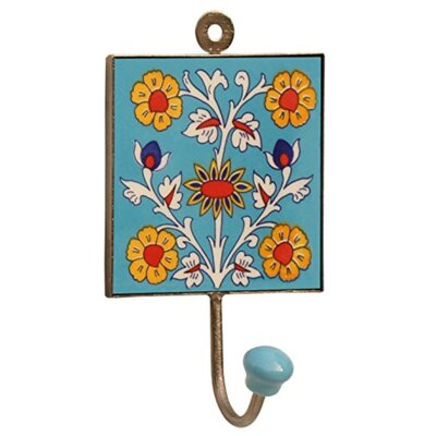 Chicago Square Ceramic Iron Wall Hook
