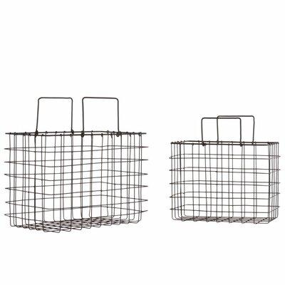 Versatile Metal 2 Piece Basket Set