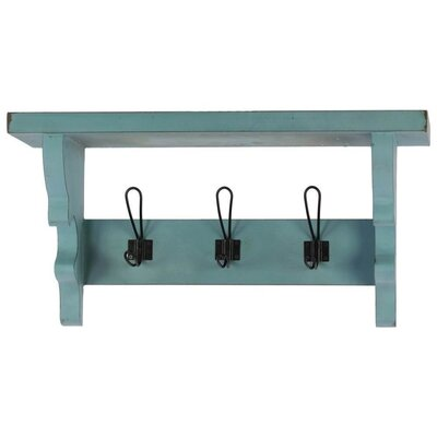 Arehart Versatile Wooden Wall Mounted Coat Rack with Corbels and 3 Hooks