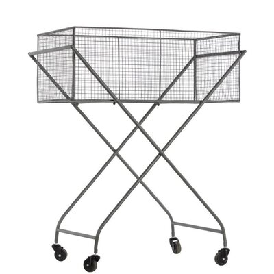 """34"""" H x 27.75"""" W Sturdy Metal Rack with 4 Casters Finish: Gray"""