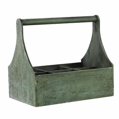 Wood Crate Color: Green