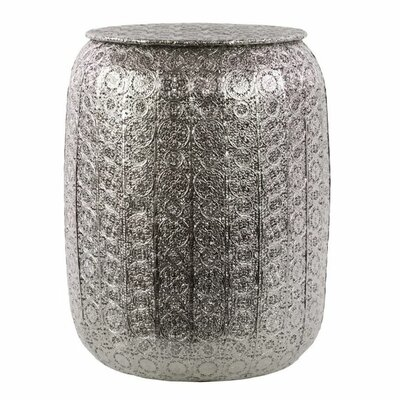 Holiday Pierced Metal Accent Stool